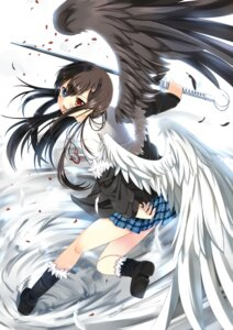 Rating: Safe Score: 47 Tags: bellezza_felutia heterochromia seifuku sword trap wings xephonia User: fairyren