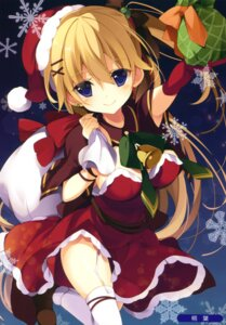 Rating: Safe Score: 58 Tags: christmas dress kisaragi_kiriha stockings thighhighs User: Twinsenzw