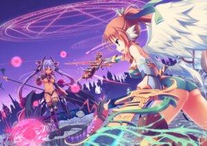 Rating: Safe Score: 37 Tags: ass bikini_armor garter horns sword thighhighs underboob weapon wings yuzuka User: Zenex