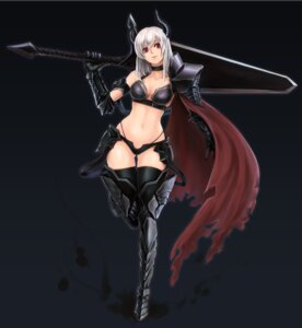 Rating: Questionable Score: 49 Tags: armor bikini_armor cleavage heels hellma123 horns sword thighhighs torn_clothes User: mash
