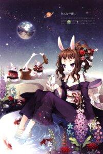 Rating: Safe Score: 31 Tags: animal_ears bunny_ears screening tearfish winter_forest yukata User: EmilyRainsworth