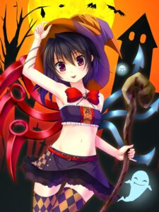 Rating: Questionable Score: 38 Tags: bug halloween houjuu_nue thighhighs touhou wings witch User: 椎名深夏