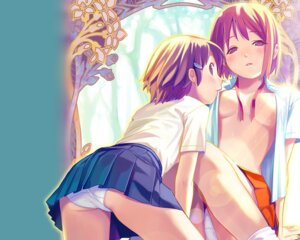 Rating: Questionable Score: 69 Tags: koutaro nijiiro_zakura no_bra open_shirt pantsu wallpaper yuri User: bunnygirl