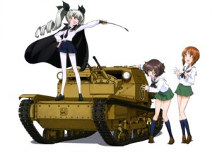 Rating: Safe Score: 24 Tags: akiyama_yukari anchovy girls_und_panzer nishizumi_miho pantyhose seifuku uniform weapon User: drop