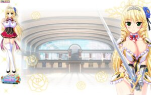Rating: Safe Score: 27 Tags: armor breast_hold heels honoo_no_haramase_motto!_hatsuiku!_karada_sokutei_2 pantsu seifuku squeez sword thighhighs wallpaper yuibi User: sorafans