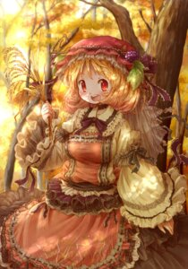 Rating: Safe Score: 21 Tags: aki_minoriko arinu lolita_fashion touhou User: KazukiNanako