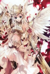 Rating: Safe Score: 58 Tags: armor kuramoto_kaya sword wings User: petopeto