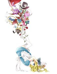 Rating: Safe Score: 18 Tags: alice alice_in_wonderland dress neko thighhighs tsukiyo_(skymint) User: animeprincess