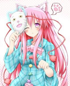 Rating: Safe Score: 36 Tags: animal_ears hata_no_kokoro karamone-ze nekomimi touhou User: 椎名深夏