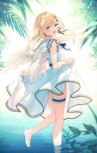Rating: Safe Score: 12 Tags: dress garter skirt_lift toosaka_asagi wet wings User: hiroimo2