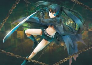 Rating: Safe Score: 26 Tags: bikini_top black_rock_shooter black_rock_shooter_(character) michii_yuuki sword vocaloid User: fairyren