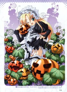 Rating: Questionable Score: 25 Tags: dress halloween loli lolita_fashion melissa_seraphy ozawa_akifumi pantsu skirt_lift stockings string_panties thighhighs unisonshift waga_mama_capriccio User: midzki