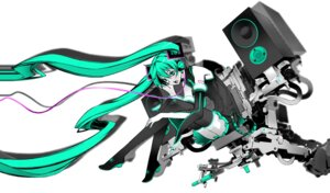 Rating: Safe Score: 24 Tags: exit_tunes hatsune_miku headphones miwa_shirow thighhighs vocaloid User: brigfox