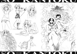 Rating: Safe Score: 9 Tags: 5_nenme_no_houkago dress edward_newgate kantoku megane monkey_d_luffy monochrome one_piece portgas_d_ace seifuku sketch thighhighs User: Hatsukoi
