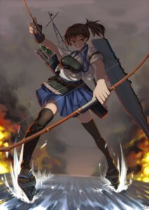 Rating: Safe Score: 13 Tags: kaga_(kancolle) kantai_collection quick thighhighs weapon User: Mr_GT