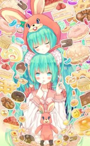Rating: Safe Score: 15 Tags: hatsune_miku lots_of_laugh_(vocaloid) vocaloid yuki. User: Nekotsúh