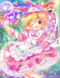 Rating: Safe Score: 12 Tags: amo animal_ears bunny_ears fairy medicine_melancholy nurse su-san touhou wings User: Mr_GT
