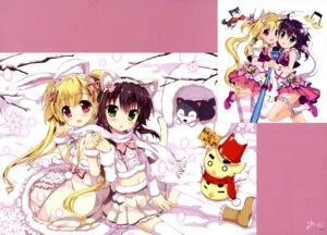 Rating: Safe Score: 38 Tags: animal_ears bunny_ears dress fujima_takuya garter nekomimi tail thighhighs User: drop