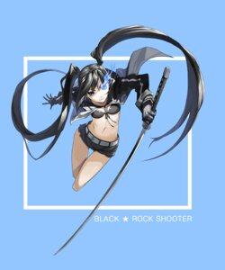 Rating: Safe Score: 41 Tags: bikini_top black_rock_shooter black_rock_shooter_(character) justminor sword vocaloid User: echidna_vita