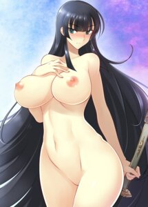 Rating: Questionable Score: 41 Tags: breast_hold haganef ikaruga naked nipples senran_kagura sword User: mash