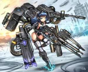 Rating: Safe Score: 30 Tags: gia gun headphones leotard mecha_musume no_bra stockings thighhighs weapon User: Mr_GT