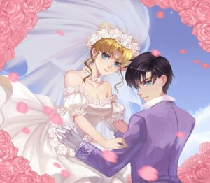 Rating: Safe Score: 19 Tags: chiba_mamoru cleavage douyougen dress sailor_moon tsukino_usagi wedding_dress User: blooregardo