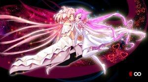 Rating: Safe Score: 13 Tags: crossover hanasaki_tsubomi heartcatch_pretty_cure! kaname_madoka pretty_cure puella_magi_madoka_magica sirills thighhighs ultimate_madoka User: Radioactive