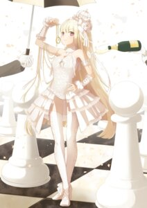 Rating: Safe Score: 68 Tags: ahira_yuzu dress stockings thighhighs User: KazukiNanako