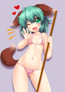 Rating: Questionable Score: 31 Tags: animal_ears bikini cameltoe kasodani_kyouko ookami_ryuu swimsuits tail touhou User: Mr_GT