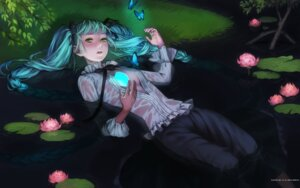 Rating: Questionable Score: 18 Tags: esukee hatsune_miku no_bra open_shirt vocaloid wallpaper User: charunetra