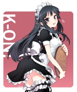 Rating: Safe Score: 55 Tags: akiyama_mio k-on! maid nardack thighhighs User: brigfox