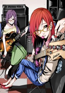Rating: Safe Score: 27 Tags: guitar heels love_live! megane nishikino_maki toujou_nozomi vice_(kuronekohadokoheiku) User: Radioactive