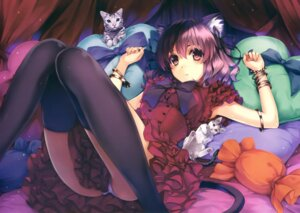 Rating: Questionable Score: 298 Tags: animal_ears dress misaki_kurehito nekomimi pantsu tail thighhighs User: Twinsenzw