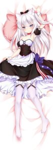 Rating: Questionable Score: 60 Tags: animal_ears azur_lane cleavage dakimakura hammann_(azur_lane) maid nan_zhi_qing_han pantyhose skirt_lift User: sym455