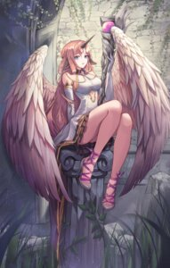 Rating: Safe Score: 58 Tags: animal_ears dress heels horns tagme weapon wings User: AnoCold