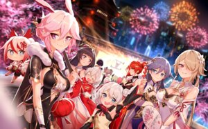 Rating: Safe Score: 20 Tags: animal_ears benghuai_xueyuan bronya_zaychik bunny_girl chibi chinadress cleavage fu_hua honkai_impact horns jell kiana_kaslana liliya_olenyeva murata_himeko raiden_mei rita_rossweisse rozaliya_olenyeva see_through seele_vollerei theresa_apocalypse yae_sakura_(benghuai_xueyuan) User: whitespace1