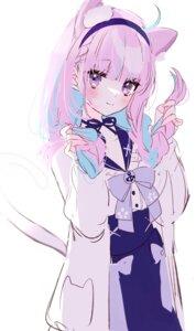 Rating: Safe Score: 9 Tags: animal_ears hololive minato_aqua misumi_(macaroni) nekomimi seifuku sketch tail User: BattlequeenYume