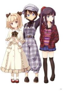 Rating: Safe Score: 49 Tags: dress iijima_yun new_game! shinoda_hajime takimoto_hifumi thighhighs tokunou_shoutarou User: Twinsenzw