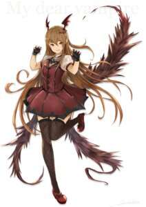 Rating: Safe Score: 35 Tags: dress granblue_fantasy heels pointy_ears stockings tail thighhighs vampy_(granblue_fantasy) wings yatsuka_(846) User: nphuongsun93