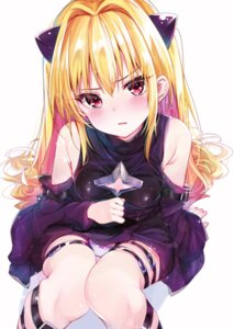 Rating: Questionable Score: 90 Tags: garter golden_darkness pantsu rouka to_love_ru User: BattlequeenYume