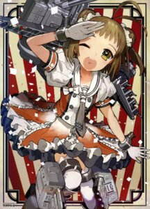 Rating: Questionable Score: 25 Tags: dress kantai_collection naka_(kancolle) thighhighs wada_rco weapon User: drop