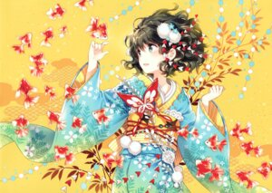 Rating: Safe Score: 75 Tags: butterfly_dream kimono nardack paper_texture User: yong