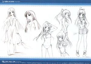 Rating: Safe Score: 20 Tags: bikini character_design cube kantoku miyazawa_midori monochrome natsu_no_ame sketch swimsuits User: Kalafina