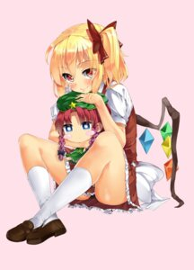 Rating: Questionable Score: 16 Tags: flandre_scarlet hong_meiling mamedenkyuu pantsu touhou User: Nekotsúh