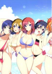 Rating: Safe Score: 25 Tags: bikini cleavage love_live! matarou swimsuits underboob User: NotRadioactiveHonest