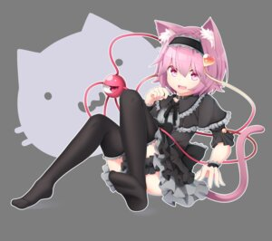 Rating: Safe Score: 41 Tags: animal_ears garter gothic_lolita komeiji_satori lolita_fashion nekomimi nogisaka_kushio tail thighhighs touhou transparent_png User: Mr_GT