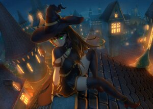 Rating: Safe Score: 43 Tags: cleavage dress halloween heels shibuya_rin the_idolm@ster thighhighs witch User: Arkon