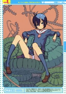 Rating: Questionable Score: 38 Tags: gakuen_kino kino_(kino_no_tabi) kuroboshi_kouhaku loli pantsu seifuku User: midzki