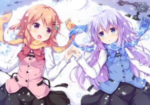 Rating: Safe Score: 72 Tags: gochuumon_wa_usagi_desu_ka? hoto_cocoa kafuu_chino kusunoki_(escude) waitress User: Mr_GT