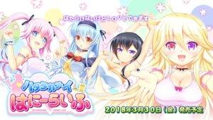 Rating: Safe Score: 15 Tags: cleavage fumizuki_kyou hatarakanai_honey_life limecat wallpaper User: moonian